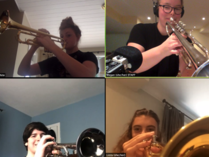 happy kids at Band Camp Online